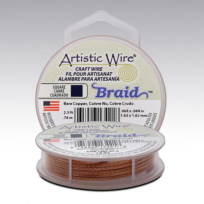 Artistic Wire® Copper 14-Ga. Square Braid, 2-1/2-ft. Spool