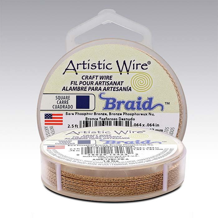 Artistic Wire® Bronze 14-Ga. Square Braid, 2-1/2-yd. Spool