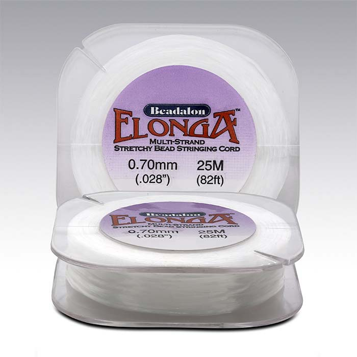"Beadalon® Elonga™ Clear Multi-Strand .028"" Stretch Bead Cord"