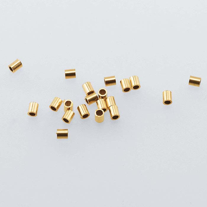 14/20 Yellow Gold-Filled Tube Crimp Beads
