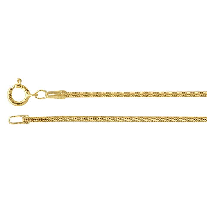 af606810e12 14/20 Yellow Gold-Filled 1.6mm Seamed Snake Chain