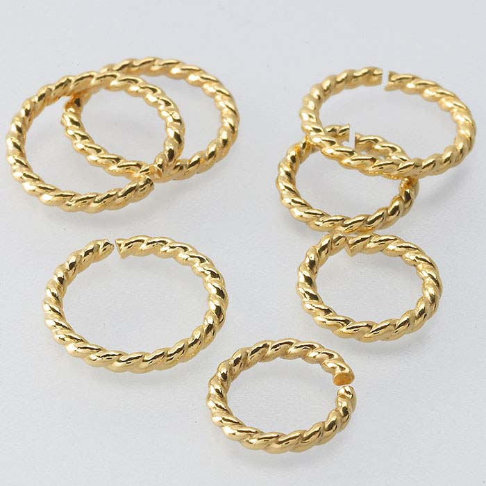 14/20 Yellow Gold-Filled Round Twist-Wire Jump Rings