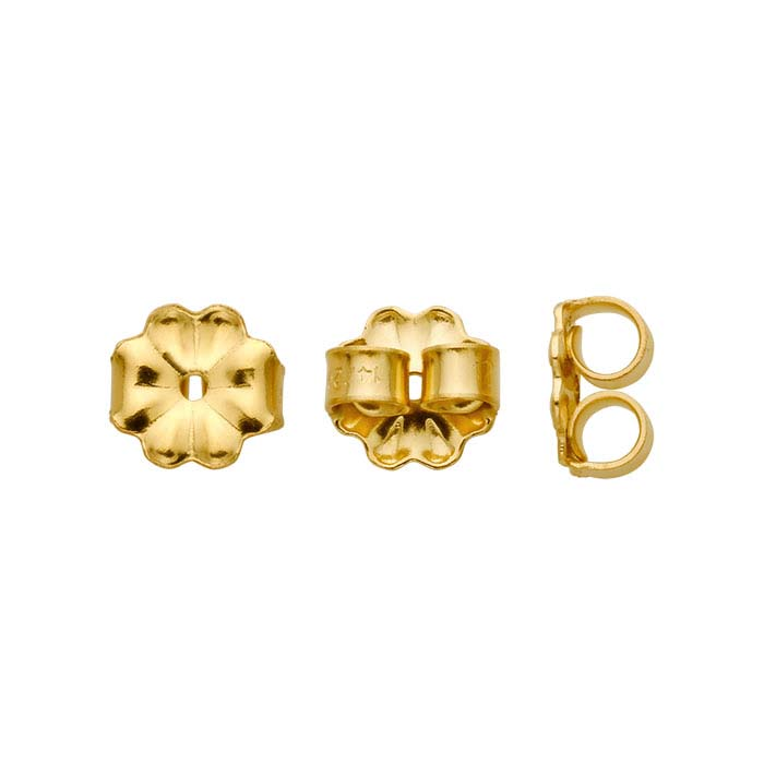 14/20 Yellow Gold-Filled Medium-Weight Friction Ear Nuts