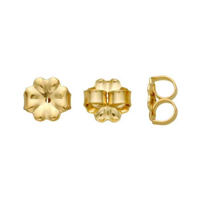 14/20 Yellow Gold-Filled Heavyweight Friction Ear Nuts
