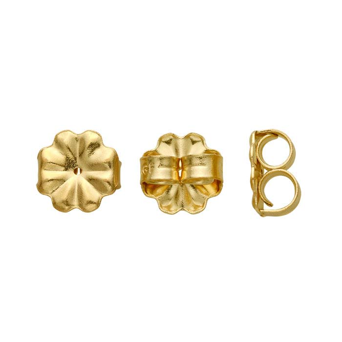 14/20 Yellow Gold-Filled 9mm Heavyweight Friction Ear Nut