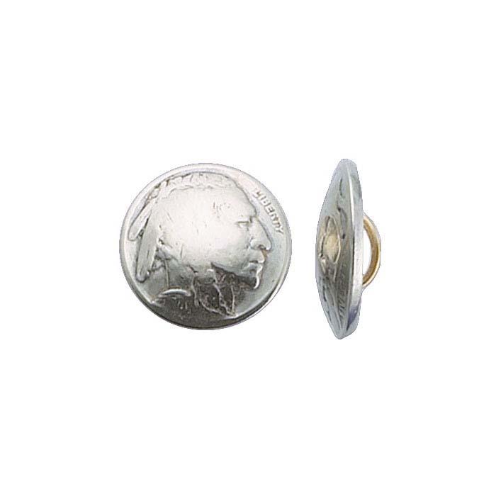 Genuine Indian-Head Nickel Button