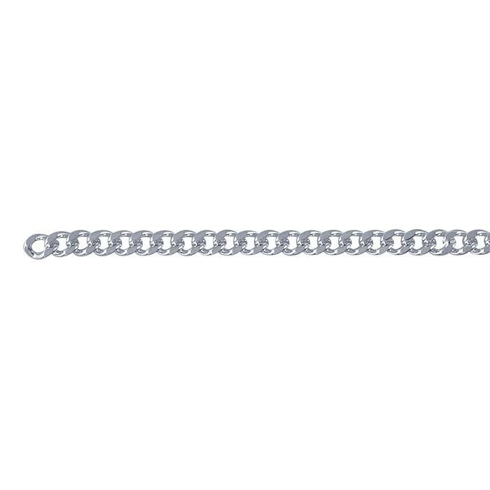 Steel Silver-Plated Diamond-Cut Curb Chains