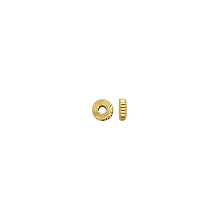 Brass Yellow Gold-Finish 3.5mm Bead Strand