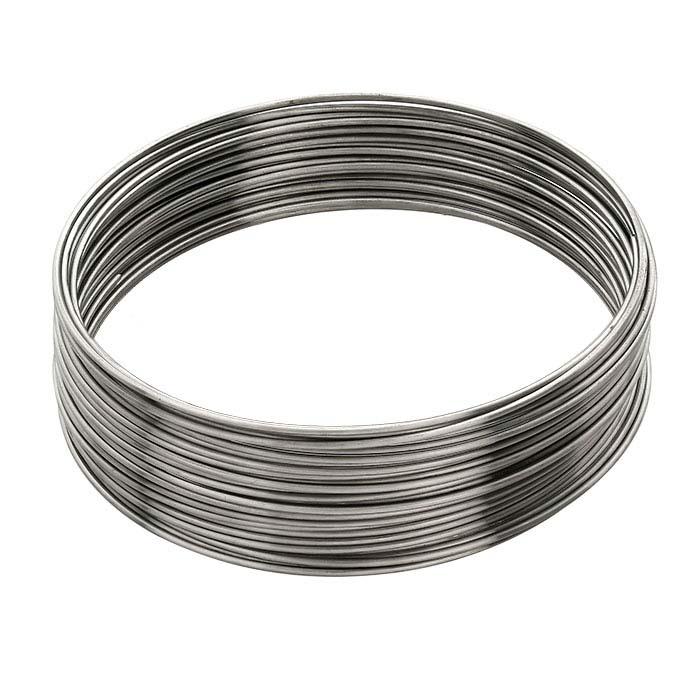 "Beadalon® Stainless Steel Bracelet Memory Wire Coil, .036"" dia., 1-oz."