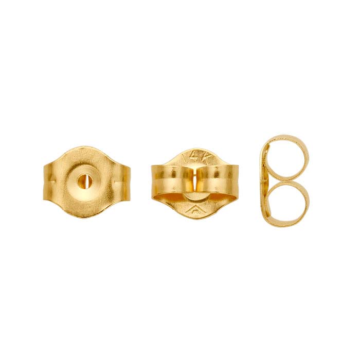 14K Yellow Gold 5mm Lightweight Friction Ear Nut