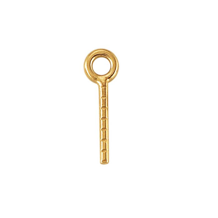 14K Yellow Gold Screw Eye Component