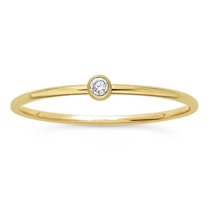 14K Yellow Gold Lab-Created Diamond-Set Rings
