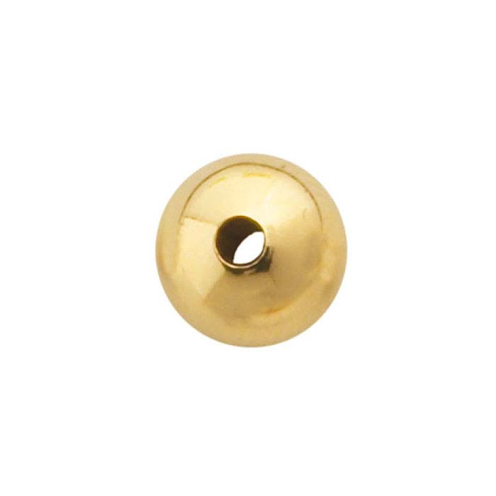 14K Yellow Gold 8mm Round Heavy-Wall Seamless Bead
