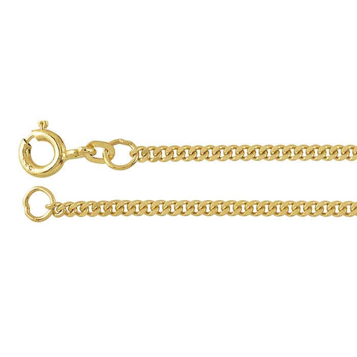 14K Yellow Gold Diamond-Cut Curb Chains