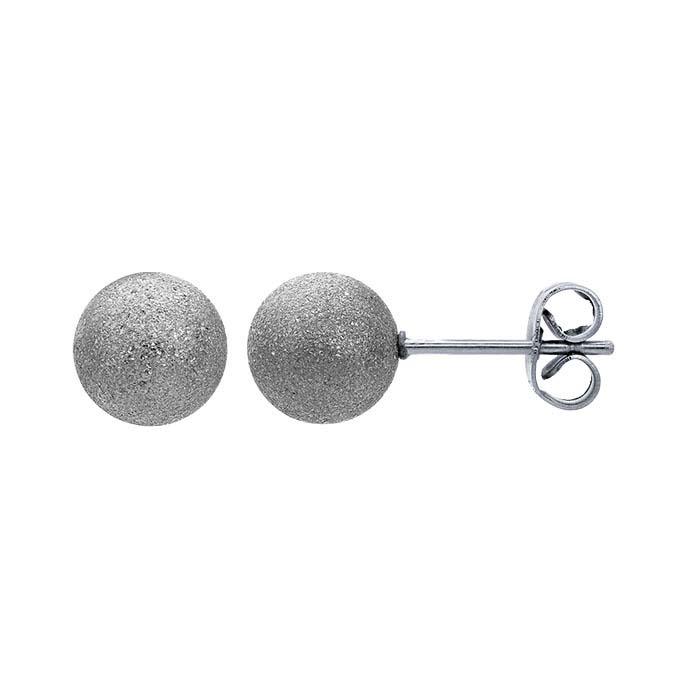 Stainless Steel Stardust Ball Post Earrings