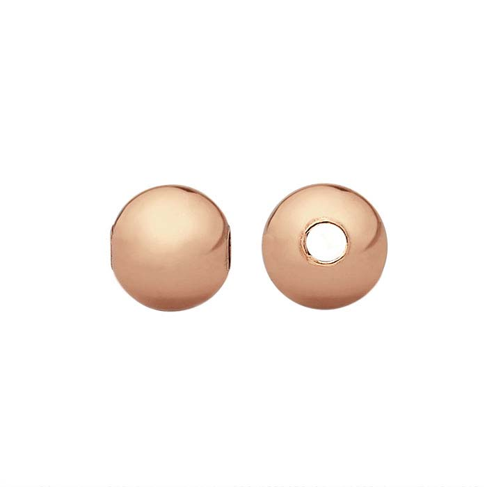 Copper 3mm Round Seamless-Look Bead