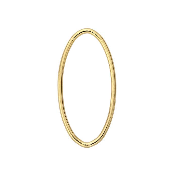 14/20 Yellow Gold-Filled Oval Component