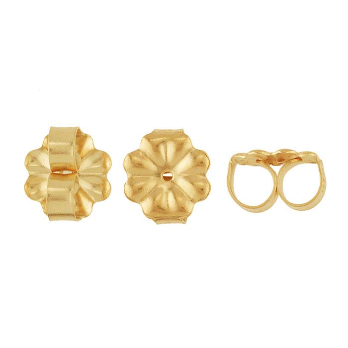 18K Yellow Gold 7mm Medium-Weight Friction Ear Nut