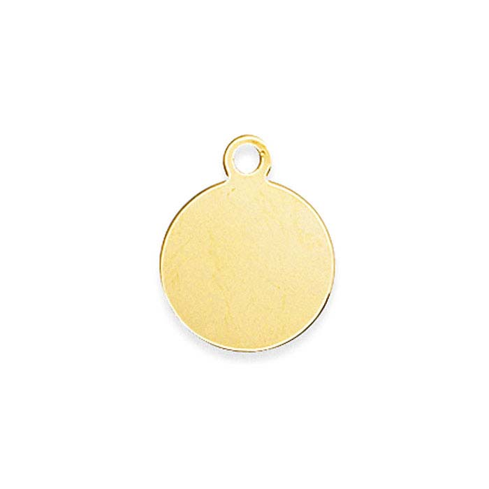 14k yellow gold round disc charm aloadofball Gallery