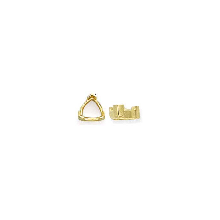 14K Yellow Gold Trillion 3-Prong Settings