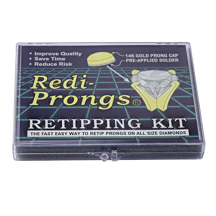 14K Yellow and White Gold Redi-Prongs Retipping Kit