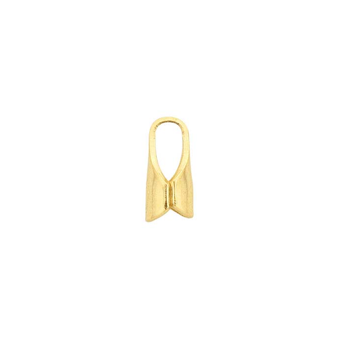 14K Yellow Gold End Cap