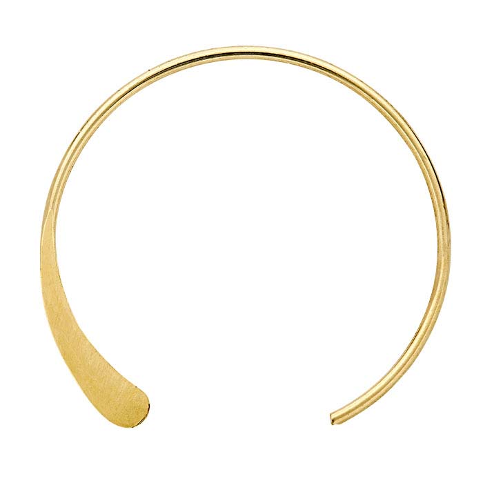 14/20 Yellow Gold-Filled Round Ear Wires with Flat End