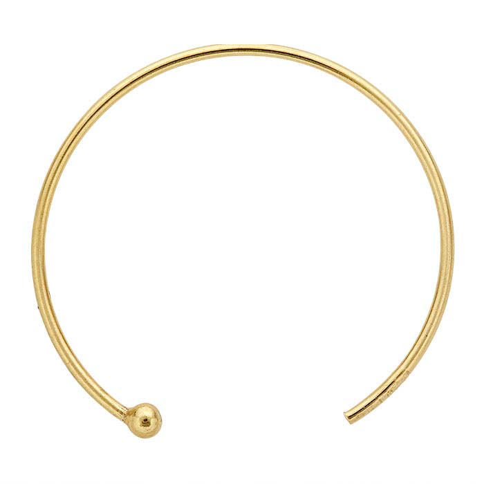 14/20 Yellow Gold-Filled Round Ear Wire with Ball End