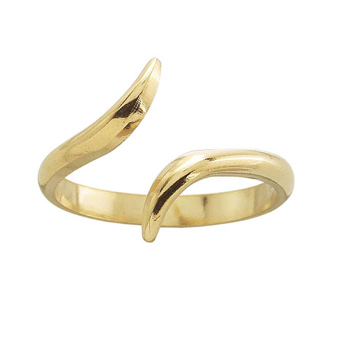 14K Yellow Gold Bypass Ring Shank