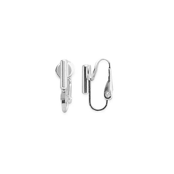 Brass White-Finish Barrel Post Converter Clip Earring