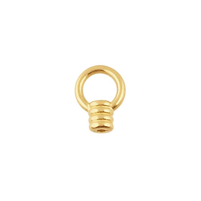 14K Yellow Gold Coil End Cap