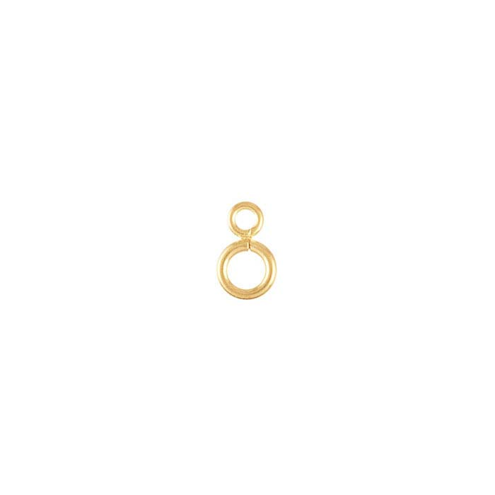 14K Yellow Gold Bead Attach Ring