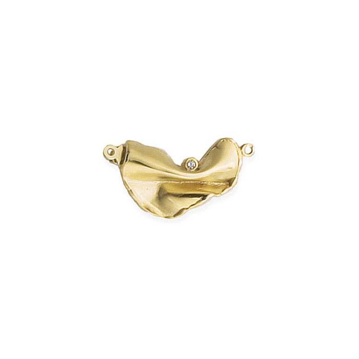 18K Yellow Gold Diamond-Set Safety Clasp