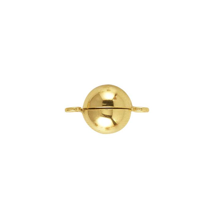 Gold Round Ball Magnetic Clasp