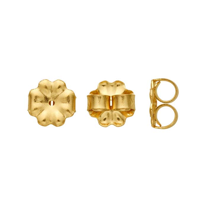 14K Yellow Gold 7mm Medium-Weight Friction Ear Nut