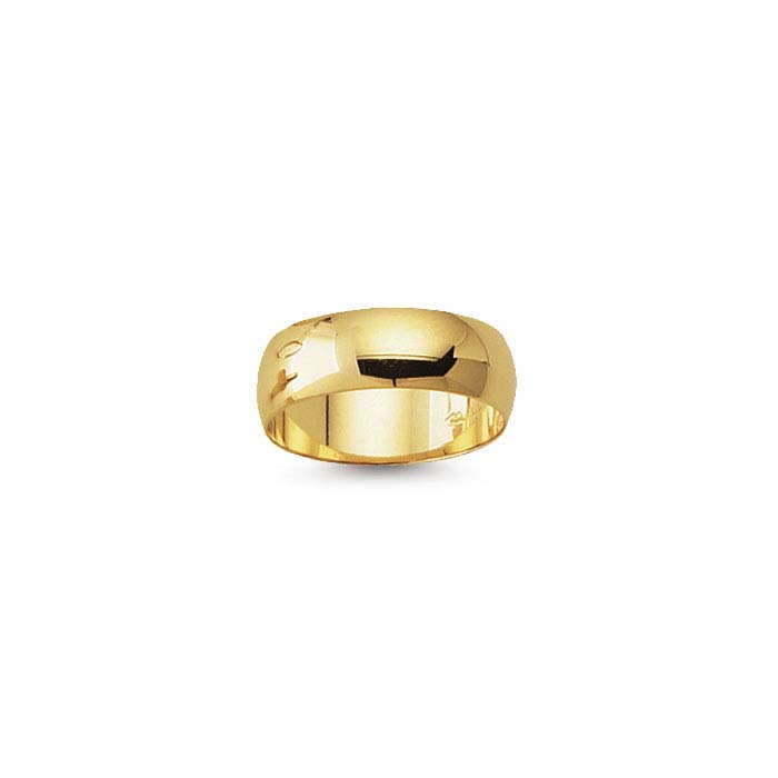 14k yellow gold 6mm wedding band