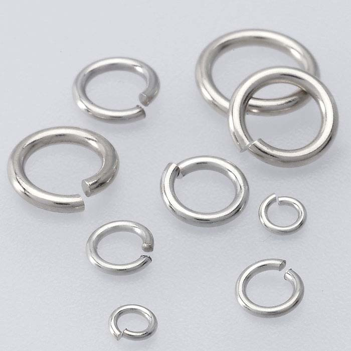 14K White Gold 2.4mm Round Jump Ring