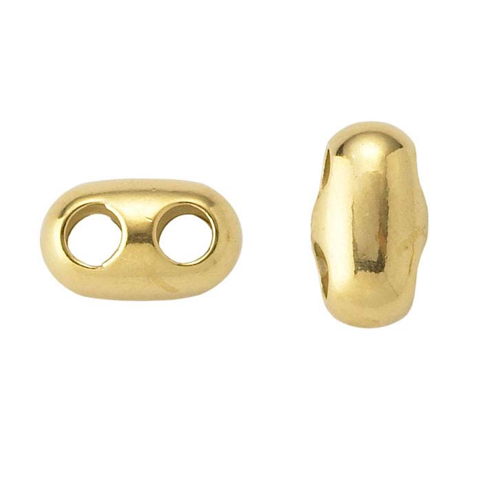 14K Yellow Gold Adjustable Cord Slide Clasp