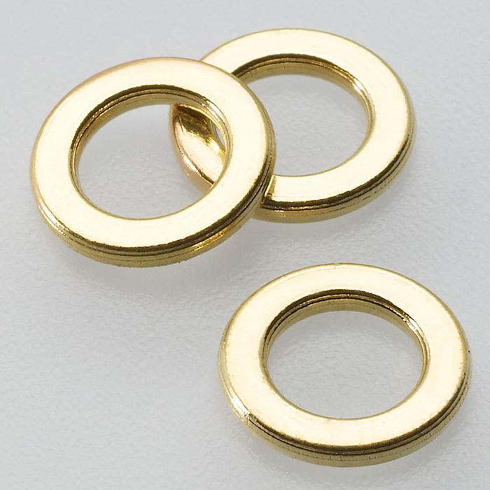 18K Yellow Gold 4.8mm Flat Round Closed Ring