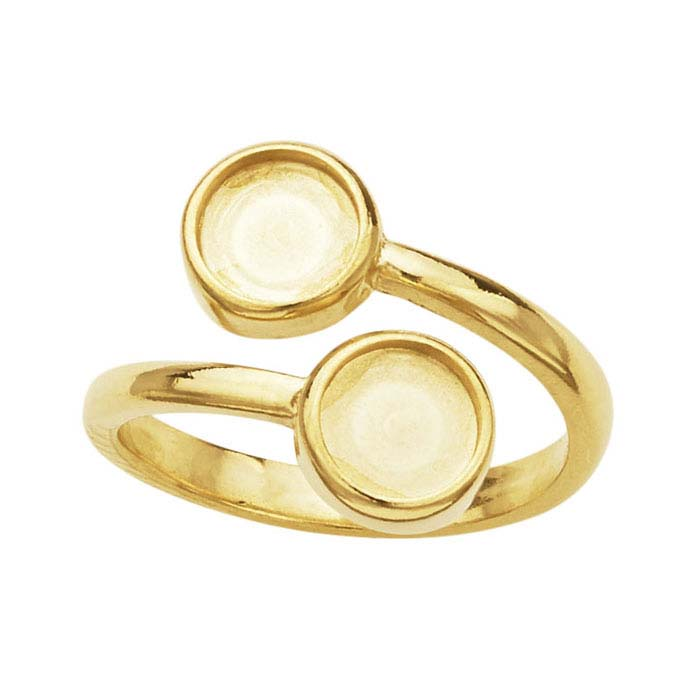 Gold Findings For Bezel Set Cabochon Ring