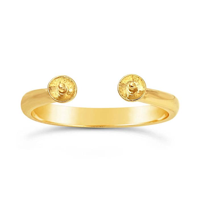 14K Yellow Gold Open-Shank Pearl Ring Mounting