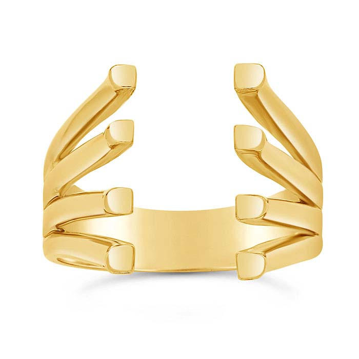 14K Yellow Gold Quad-Split Ring Shanks with Pads