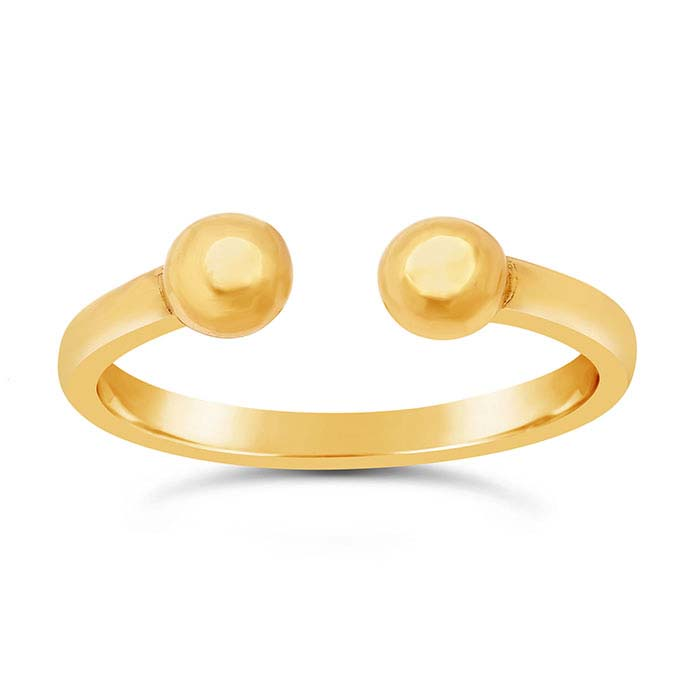 14K Yellow Gold Double Round Rings