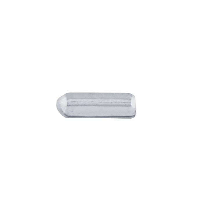 Base Metal Silver-Plated Stickpin Clutch with Rubber Insert