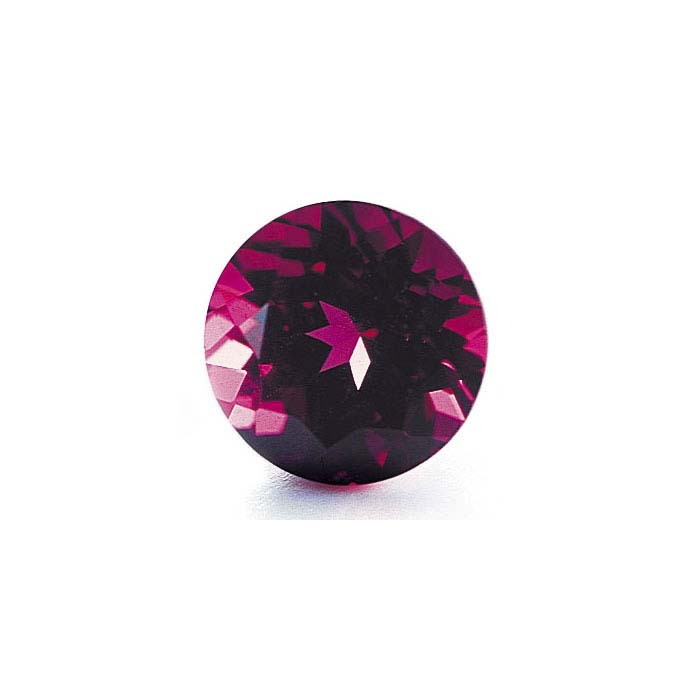 Rhodolite Garnet Round Faceted Stones, AA-Grade
