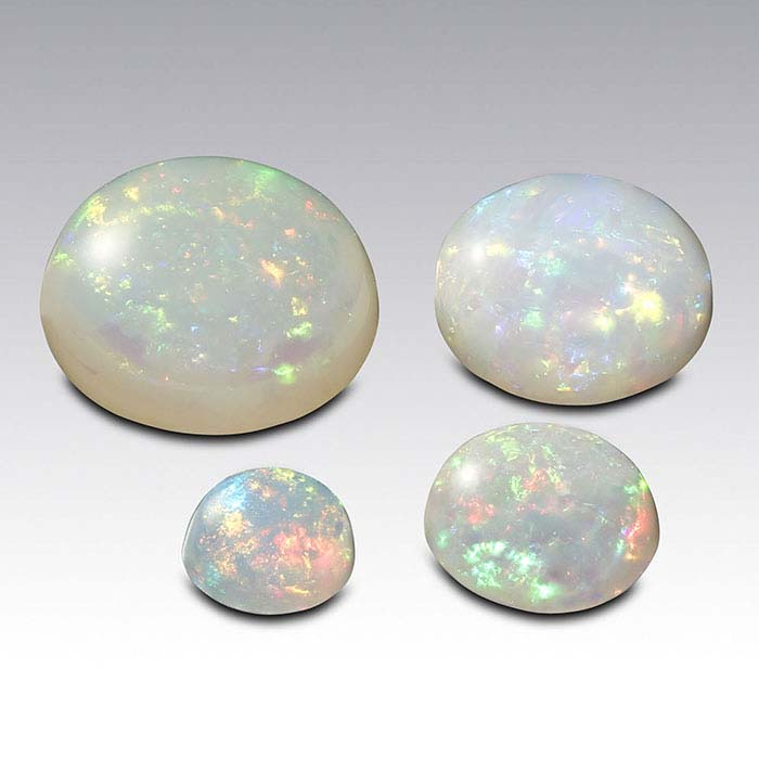 Opal 4mm Round Cabochon, AAA-Grade