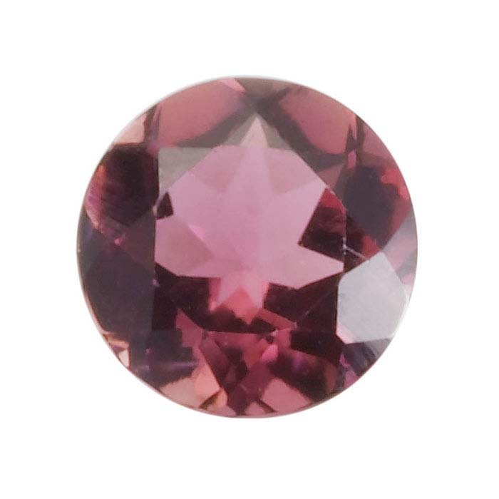 Pink Tourmaline Round Faceted Stones, AA-Grade