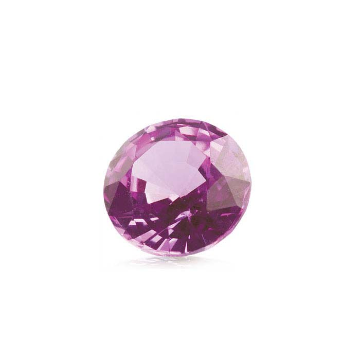 Pink Sapphire Round Faceted Stones, AA-Grade