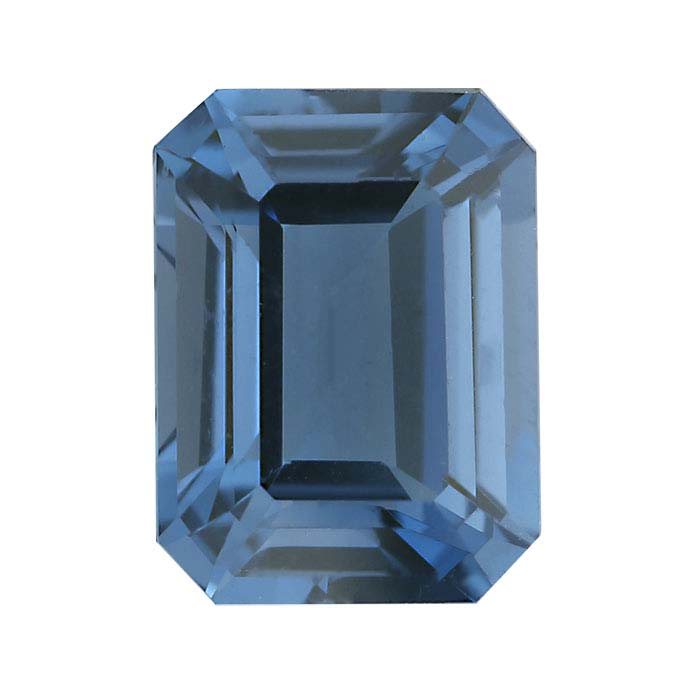 London-Blue Topaz 8 x 6mm Octagon Faceted Stone, AA-Grade