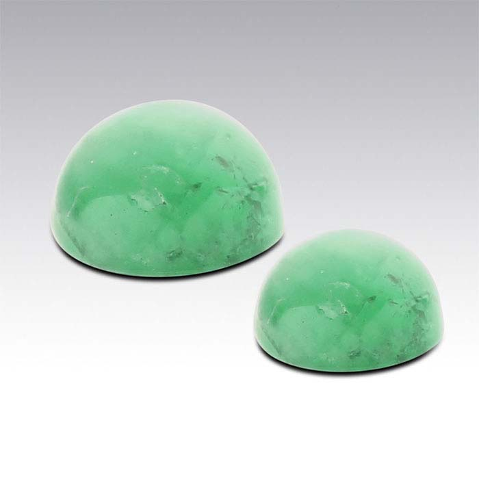 Emerald 4mm Round Cabochon